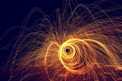 Amazing  Fire steel wool .