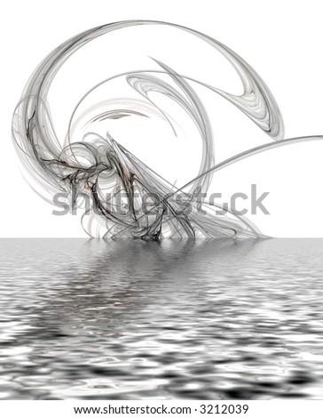 amazing flooded fractal background