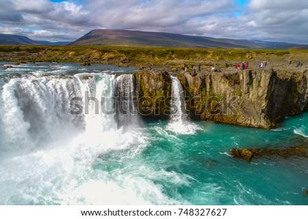 Amazing Godafoss Waterfall, Iceland #748327627