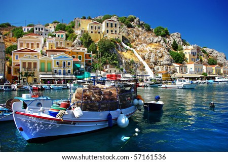 amazing Greece - pictorial island Symi - stock photo