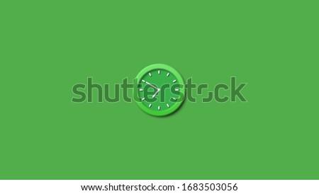 Amazing green clock wall clock,Wall clock icon,3d green wall clock