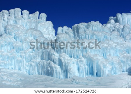 Amazing ice formations, Utah, USA. - stock photo