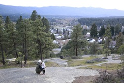 Amazing landscape of Cle ELum, WA Cascade mountains small American mountain town one hour east from Seattle.