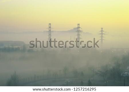 Amazing metropolis sunrise #1257216295