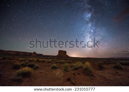 Amazing Milky way over Monument Valley.
