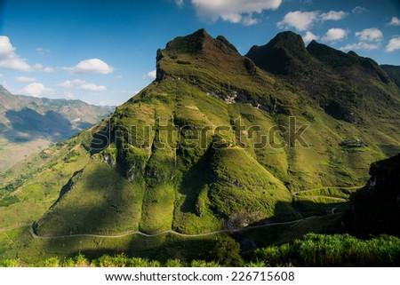 Amazing mountain landscape in Dong Van karst plateau global geological park, Hagiang, Vietnam  - Shutterstock ID 226715608