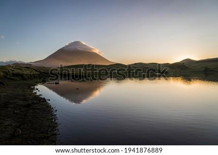 Amazing Mountain, Pico Island, Azores, Portugal Foto stock ©