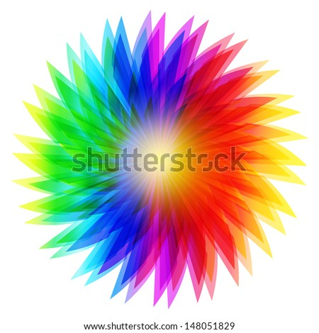 Amazing multi-colored flower