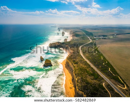 Amazing Nature of Twelve Apostles by the Great Ocean Road in Australia. #582482869