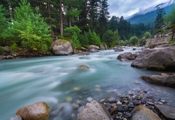 Amazing nature scenery in Manali India. Long exposure and noise visible due to long exposure.