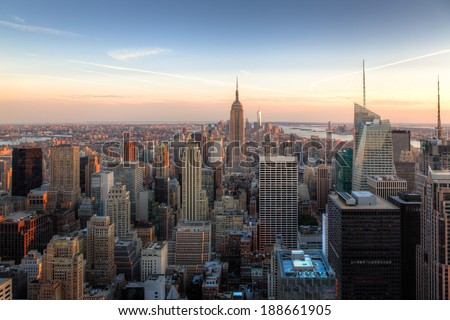 Amazing New York City Skyline - NYC - USA #188661905