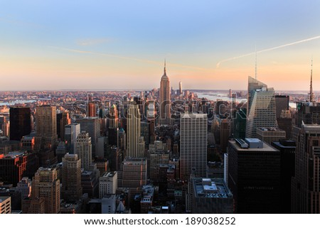 Amazing New York City Skyline - NYC - USA #189038252