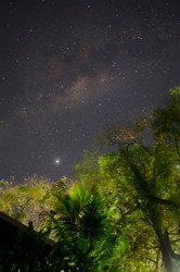 Amazing Night in the Beach - Via Lactea and the Constellation of Sagitarius - Boiçucanga Beach
