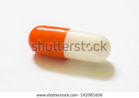 Amazing photo of capsule with great colors in white background