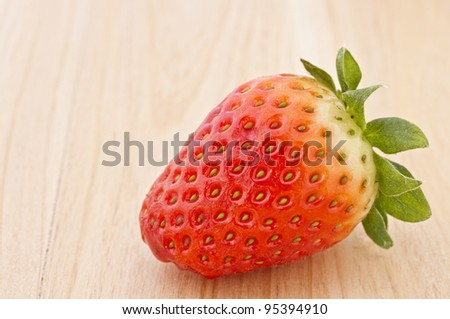 Amazing photo of strawberry with great light and colors