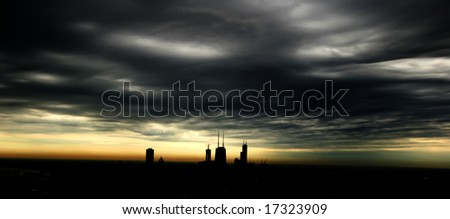 Amazing photograph of Chicago's skyline in silhouette