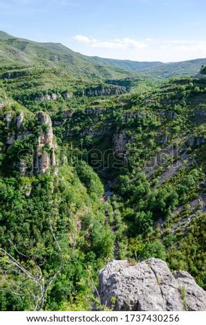 Amazing place in La Rioja, the name of the place is 'Cañon de Rio Leza'  Stock fotó ©