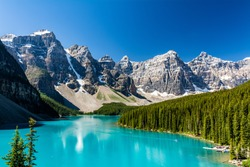 Amazing place to be on earth. Moraine lake, Banff National Park, Alberta, Canada
