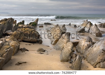 Amazing rocks near the Ocean, high density range image