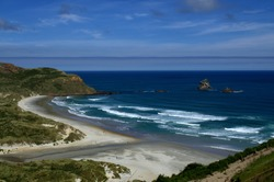 Amazing Sandfly Bay Beach , Otago Peninsula, New Zealand