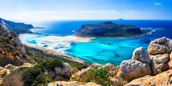 amazing scenery of Greek islands - Balos bay in Crete island