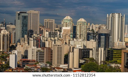 Amazing skyline of Sao Paulo - skyscrapers of Sao Paulo, Brazil South America #1152812354