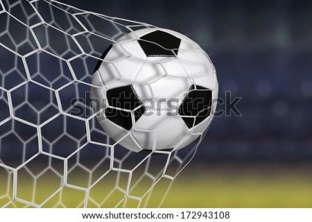 Amazing soccer goal Foto stock ©