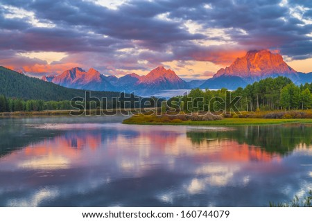 Amazing Sunrise in Grand Teton National Park
