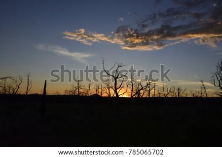 Amazing sunset captured near Durango in Colorado #785065702