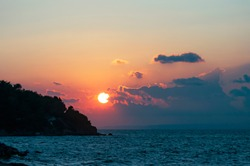 Amazing sunset peaceful, mind cleansing seascape.