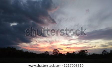 Amazing Sunset Sky #1217008510