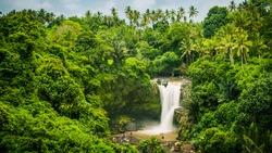 Amazing Tegenungan Waterfall near Ubud in Bali, Indonesia