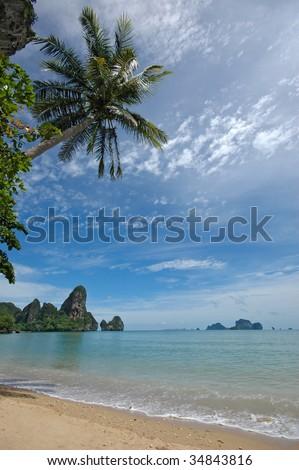 Amazing Thailand! Krabi province. Rocks by the sea.