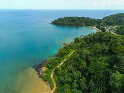 Amazing view from Abade beach at Prince Island,Sao Tome e Principe.Príncipe is the world's first Biosphere Reserve by UNESCO