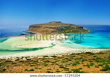 amazing view of Balos bay, Gramvousa (Crete, Greece)