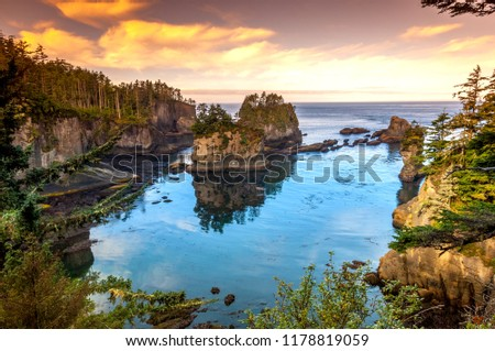 Amazing View of Cape Flattery, WA-USA Stock photo ©