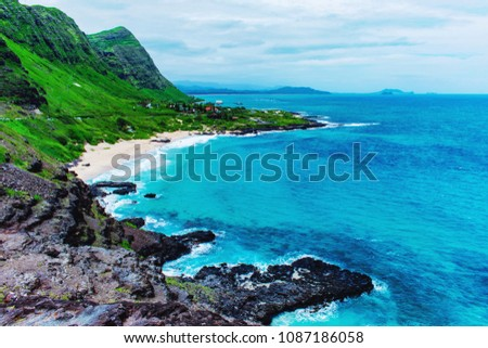 Stock Photo Amazing view of Hawaii Makapuu Observation Deck