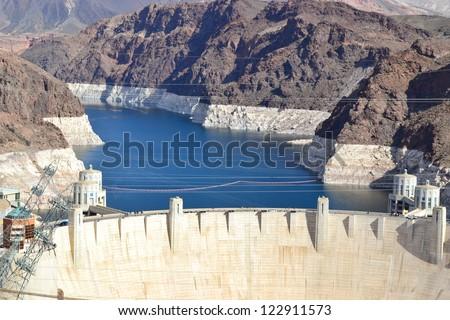 Amazing view of Hoover Dam. Arizona. Nevada. USA - stock photo