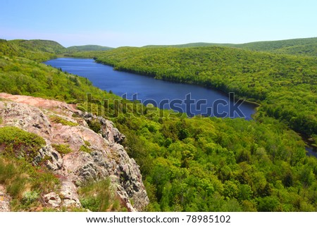 Amazing view of Lake of the Clouds at Porcupine Mountains State Park in northern Michigan