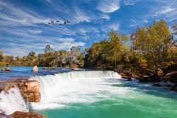 Amazing view of Manavgat waterfall in Turkey