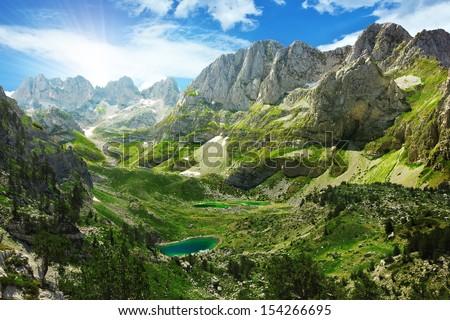 amazing view of mountain lakes...