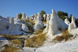 Amazing view of Rock phenomenon Stone Wedding near town of Kardzhali, Bulgaria