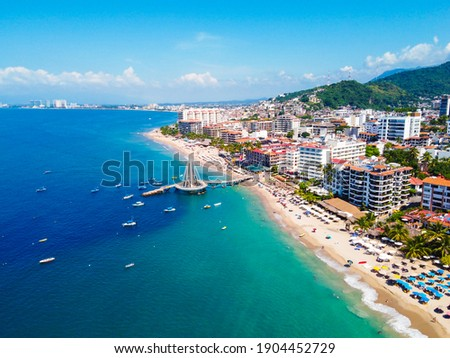 Amazing view of the city of Puerto Vallarta
