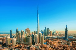 Amazing view on Dubai downtown skyline, Dubai, United Arab Emirates