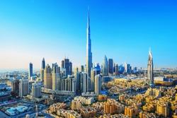 Amazing view on Dubai futuristic skyline, Dubai, United Arab Emirates
