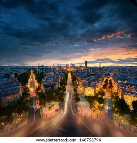 Amazing view to night Paris #148758794