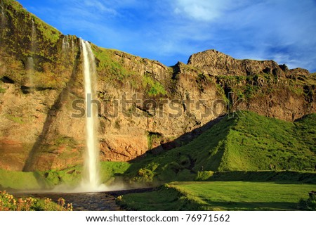 amazing waterfall in Iceland