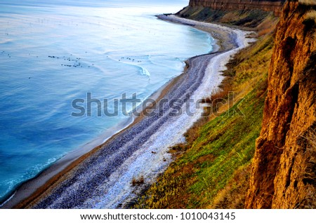 Amazing wild beach in Romania at the Black Sea