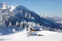 Amazing winter landscape in Austrian alps