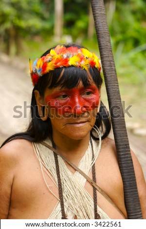 Amazon indian woman-hunter